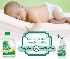 Buy #SimpleGreen Free & Clear Laundry, get Free & Clear Ready-to-Use All-Purpose Cleaner! Both are perfect for those with allergies or other sensitivies. Now until 8/1/14.