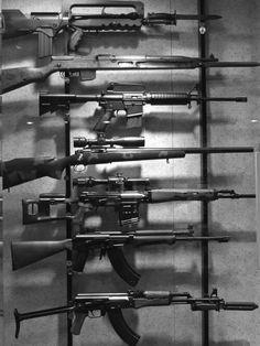 Horizontal para dez armas com mira no trilho
