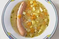 Dicke #Kartoffelsuppe mit Wurst (Rezept mit Bild) von Ricki | Chefkoch.de