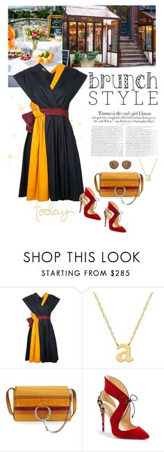 """Brunch Style"" by frechelibelle ❤ liked on Polyvore featuring Ultimate, Paule Ka, Jane Basch, Chloé, Christian Louboutin, Vanity Fair and Ray-Ban"