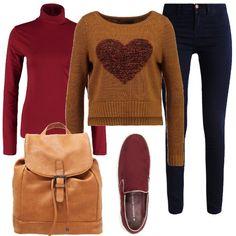 Un look romantico e colorato, per chi ama la semplicità senza passare inosservata. I jeans elasticizzati, scarpe slip-on e lo zainetto, vero e proprio must della stagione, sono perfetti e comodi per una giornata frenetica all'università o in giro per la città. Un outfit pratico, ma con stile che si può completare con un parka, adatto alla stagione.