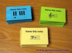 Printable musical Truth or Dare Flashcards #musiced @pianimation // Tarjetas imprimibles para reconocimiento de notas #edmusical