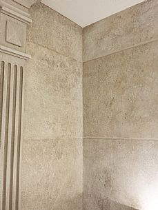 Hand painted wood and marble finishes (faux finishes) are used to imitate rare, expensive and exotic materials or in the restoration and matching of those existing. Faux Painting Walls, Stone Painting, Painting On Wood, Faux Stone Walls, Faux Walls, Faux Painting Techniques, Stone Blocks, Ceiling Treatments, Room Paint
