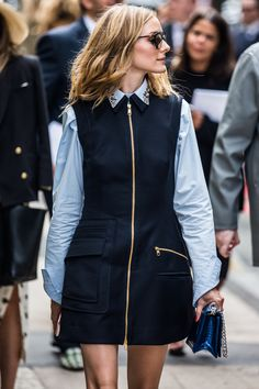 Olivia Palermo - Street looks at Haute Couture Week Fall/Winter 2016-2017 in Paris   Vogue Paris