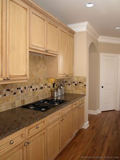 ligh color wood kitchen cabinets of kitchens traditional light wood