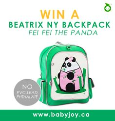 This is a beautiful little backback that features a Panda on the surface. This giveaway runs at Journeys of the Zoo until August 31.
