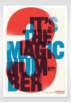 3 It's The Magic Number Original Print by thedesignersnursery