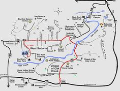 Sedona Attractions Map