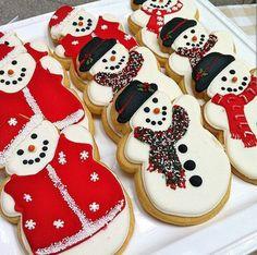 Snowman cookies!                                                                                                                                                                                 More