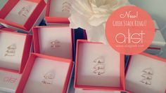 Sorority Stack Rings - Any greek letter, any combo! Available in silver, gold & rose gold.  www.alistgreek.com