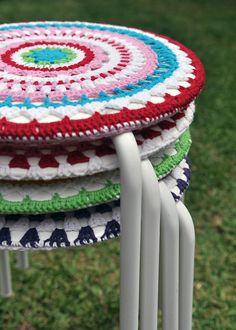 Crochet Mandela Stool_24sml