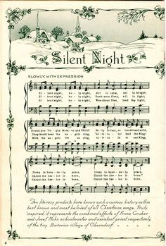 A bunch of scanned Christmas song sheet music