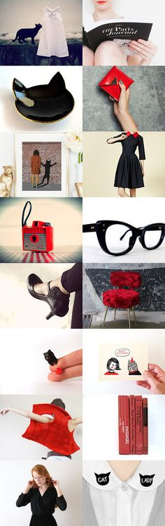 C a t  L a d y  by Slastidolls on Etsy--Pinned+with+TreasuryPin.com Polyvore, Etsy, Image, Fashion, Moda, Fashion Styles, Fashion Illustrations