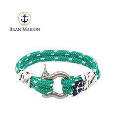 Warhol Nautical Bracelet by Bran Marion Nautical Bracelet, Nautical Jewelry, Turquoise Bracelet, Marine Rope, Captain Hook, Warhol, Everyday Look, Handmade Bracelets, Green Colors