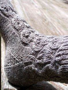 Leafing Around 2 Needle Socks by Grace Mcewen on Ravelry!