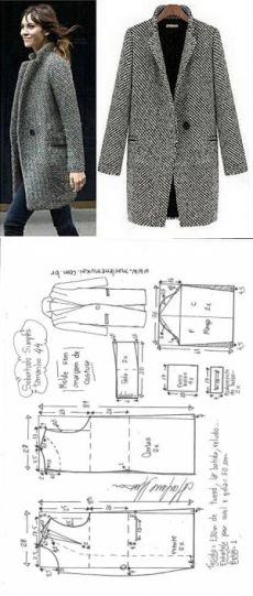 Tremendous Sewing Make Your Own Clothes Ideas. Prodigious Sewing Make Your Own Clothes Ideas. Coat Patterns, Dress Sewing Patterns, Sewing Patterns Free, Clothing Patterns, Sewing Coat, Sewing Clothes, Fashion Sewing, Diy Fashion, Fashion Clothes