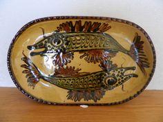 Jean Hampton Slipware Fish Dish, 1978