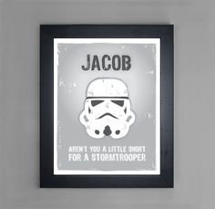 Star Wars  Stormtrooper  Personalized Art by mytinytotcreative, $15.00