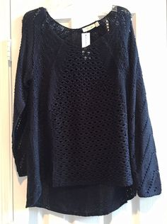 Basic Black Sweater with Great Texture. Love Love Love.