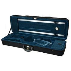 New 4/4 Enhanced Black Square  Nylon Material Violin Case