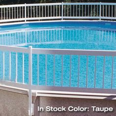 "Above Ground Resin Pool Fencing | 24"" Resin Above Ground Pool Safety Fence by GLI Pool Products - American Sale"