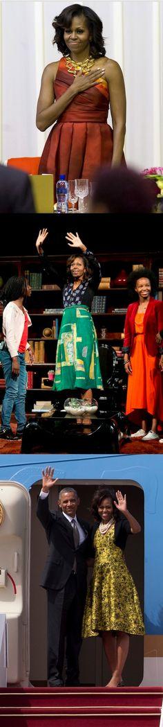 Michelle Obama South Africa 2013 Fashion #EasyNip