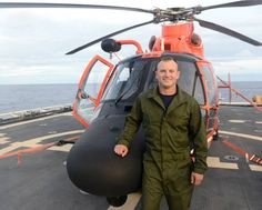 The Coast Guard Cutter Kimball's mess deck erupted into applause that Lonnie Taber, a prior service Army National Guardsman and Iraq War veteran, was leaving that night aboard an Air Station Barbers Point MH-65 Dolphin helicopter for Coast Guard Aviation Maintenance Technician A-School to continue his long aviation service to the nation. Coast Guard Helicopter, Bell Helicopter, Attack Helicopter, Aviation Careers, Iraq War, Boeing Dreamlifter, Airbus Helicopters, Coast Guard Cutter, National Guard