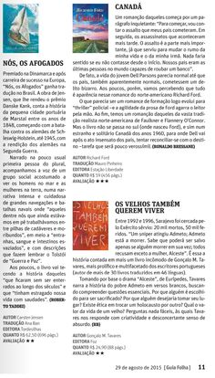 Título: Nós, os afogados Veículo: Guia Folha . Data 29/08/2015 Cliente: Editora Alaúde