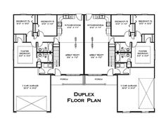 Duplex - Floor Plan