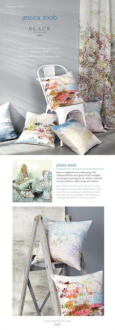 Jessica Zoob Cushion Preview : Designer Fabrics & Wallcoverings, Upholstery Fabrics ROMO FABRICS