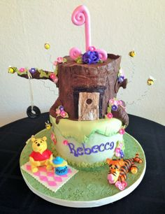 Winnie The Pooh Tree-house Birthday Cake in Orlando