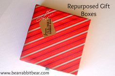 Repurposed Christmas Gift Boxes - Save boxes after unwrapping gifts and reuse them later.