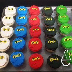Ninjago CupCakes de vainilla con betún decorados con galleta y royal icing #LosEspejos pedidos 83367064