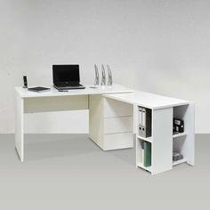 Eckschreibtisch weiß  sehr schöner Schreibtisch in Weiß | Cantinho de Trabalho ...