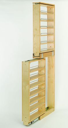 Tall Filler Pullout Organizer with Wood Adjustable Shelves Tall/Pantry Acces. - Küche - in Tall Filler Pullout Organizer with Wood Adjustable Shelves Tall/Pantry Acces. Kitchen Pantry, Diy Kitchen, Kitchen Storage, Tall Cabinet Storage, Kitchen Wood, Pantry Cabinets, Wood Storage, Wood Shelves, Storage Ideas