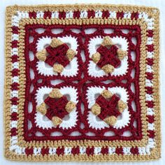 Sweet peas square! - free tutorial in English and with pictures!! I love it!