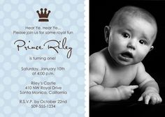 Lil prince 1st birthday personalized party invitations my little prince2 1st birthday boy invitations filmwisefo