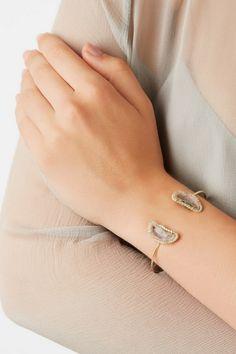 Kimberly McDonald   18-karat gold, geode and diamond cuff   NET-A-PORTER.COM