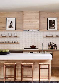 Modern Kitchen Design modern mountain lodge design at caldera house in jackson hole Home Decor Kitchen, New Kitchen, Home Kitchens, Kitchen Ideas, Room Kitchen, Remodeled Kitchens, Minimal Kitchen, Kitchen Grey, Natural Kitchen