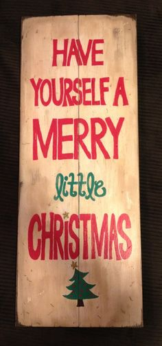 Vintage Christmas Sign on Etsy, $50.00