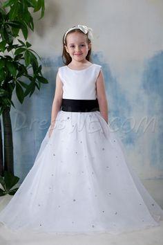 Dresswe.com SUPPLIES Pretty A-line Scoop Floor-length Appliques Flower Girl Dress 2013 Flower Girl Dresses