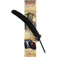 Black Pirate Quill Pen - WR-PQUILL by Medieval Collectibles