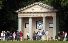 """Diana """"Princess of Wales"""" Spencer - British Royalty. She was the first wife of Charles, Prince of Wales, who is the eldest child and heir apparent of Queen Elizabeth II. Princess Diana Grave, Diana Memorial, Charles Spencer, Prince William And Harry, Prince Of Wales, Lady Diana, Queen Elizabeth Ii, Gazebo, Outdoor Structures"""