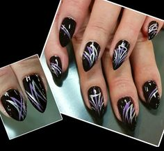 purple pinstriping  by Oli123 from Nail Art Gallery