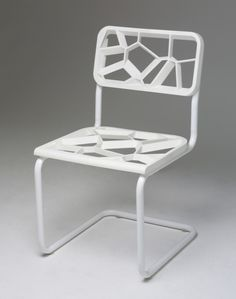 3D printed chair by Chris Hardys  http://www.shapeways.com/blog/archives/758-chris-hardys-cesca-chair-interpretation.html #3dPrintedFurniture