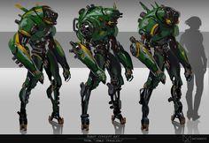 ArtStation - Robot Concept Art / Space Travellers, Fred Augis