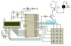Password Based Door Locking System Circuit Diagram using 8051