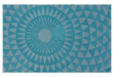 Modern Nomad by nuLOOM - Bronnen Rug, Aqua/Gray