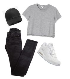 """""""Outfit of the Day"""" by angelic-bitches ❤ liked on Polyvore featuring Rick Owens, Monki, NIKE and Stampd"""