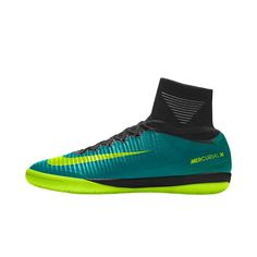 Nike MercurialX Proximo II IC iD Men's Indoor/Court Soccer Shoe Size 10.5  (Green